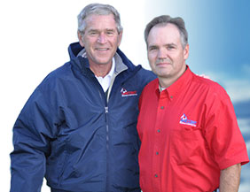 Owner and George Bush