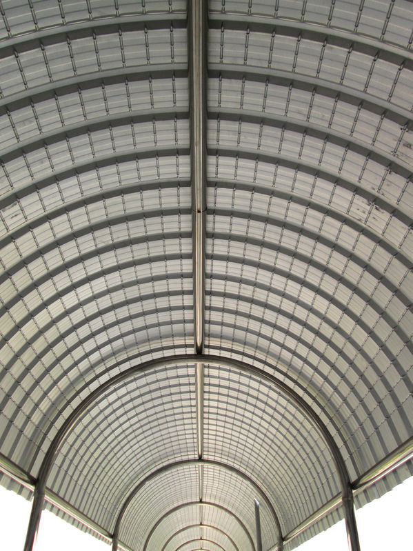 interior of a standing seam metal roof