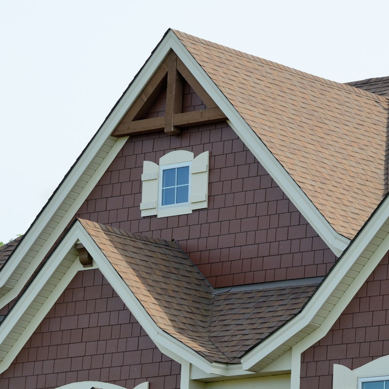 A home with architectural shingles