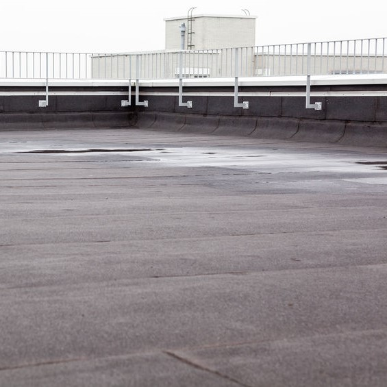 flat roof with water ponding