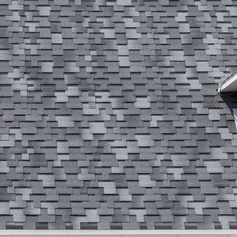 gray architectural tiles lined with modified bitumen