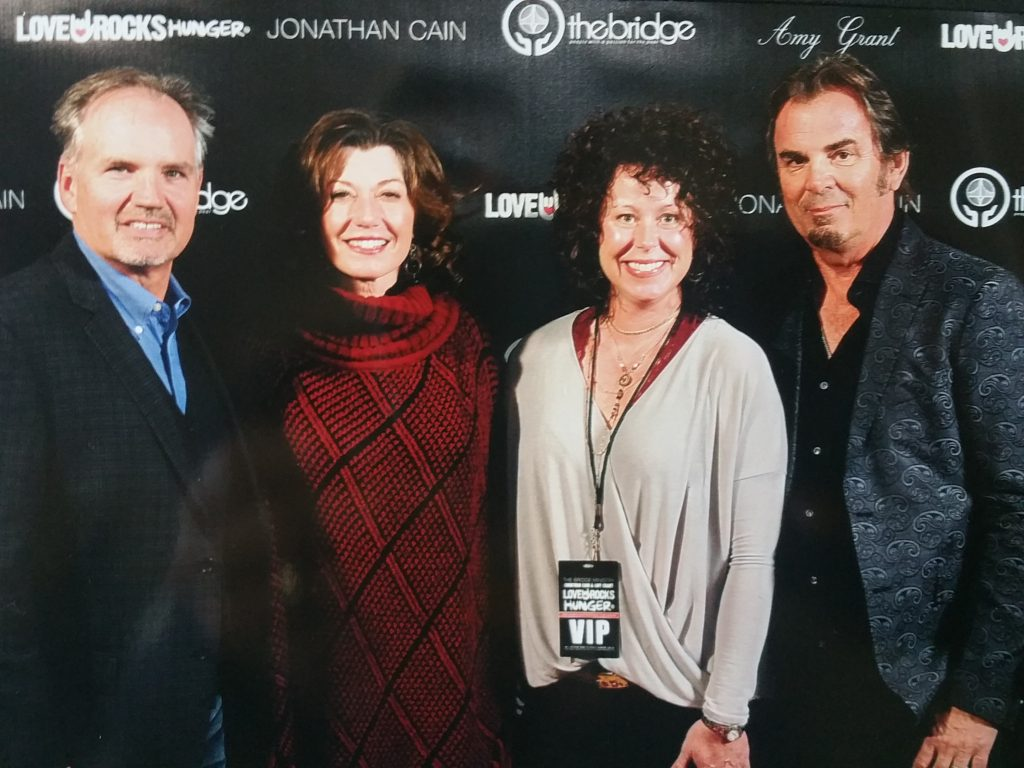 Lonnie & Nicole Hagen for Accent Roofing & Construction with singer and song writer Amy Grant along with singer and song writer Johnathan Cain for the band Journey #TheBridgeMinistry