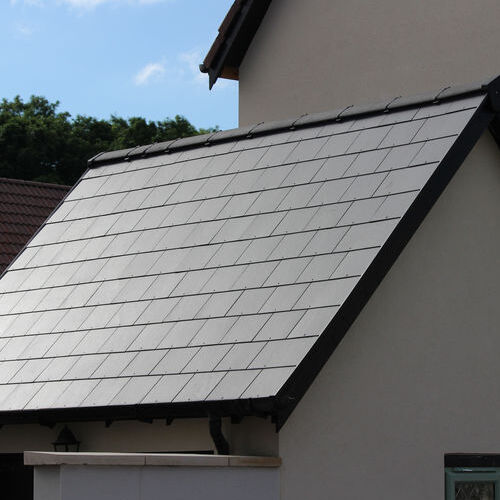 Slat roof on a residential home